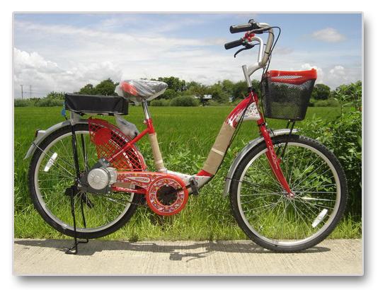 จักรยานทรงแม่บ้าน LA ติดตั้งกับชุดคิต ความเร้ว 20กม/ชม ระยะทาง 20กม