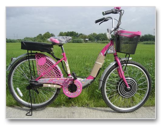 จักรยานทรงแม่บ้าน LA ติดตั้ง Hub Motor 350W ความเร้ว 30 กม/ชม ระยะทาง 30 กม